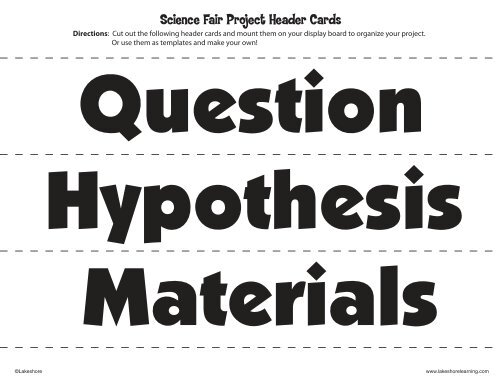 photo relating to Science Fair Project Printable Headings named Science Sensible Venture Header Playing cards - Lakeshore Mastering Supplies
