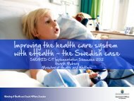 Improving the health care system with eHealth – the ... - ihtsdo