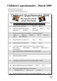 Children's questionnaire - March 2009 - Fieldhead Carr Primary ...