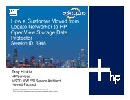 How a Customer Moved from Legato Networker to HP ... - OpenMPE