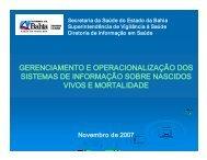 gerenciamento e operacionalização dos sistemas de ... - Sesab
