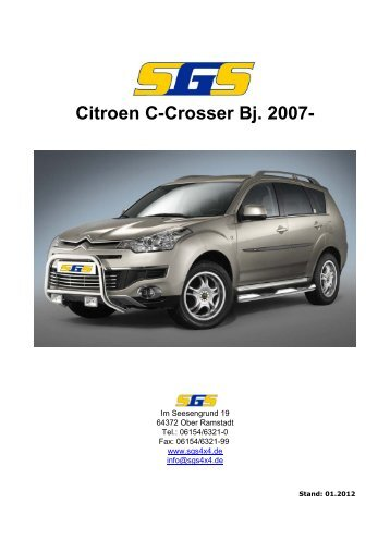 Citroen C-Crosser Bj. 2007- - SGS