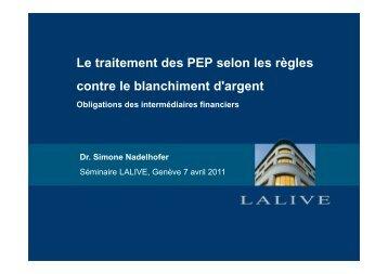 présentation - Lalive