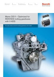 Marex OS II – Optimized for REINTJES trolling gearboxes with V-ADS