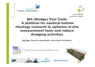 Silt (Sludge) Test Tank: A platform for nautical bottom ... - SedNet