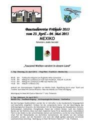 Ausschreibung Mexiko 2013 - Landesinnung Bau