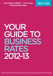 2013 Business Rates Information - Forest of Dean District Council