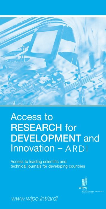 Access to Research for Development and Innovation (ARDI) - WIPO