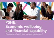 PSHE: Economic wellbeing and financial capability - eRiding