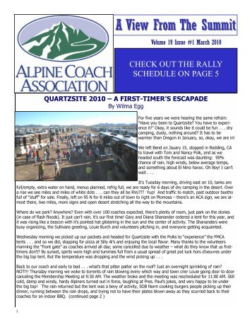 A View From The Summit - Alpine Coach Association