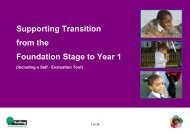 Supporting Transition from the Foundation Stage to Year 1
