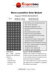 Mono-crystalline Solar Module - Engcotec Gmbh