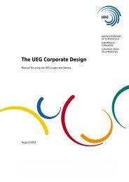 The UEG Corporate Design - Agecin