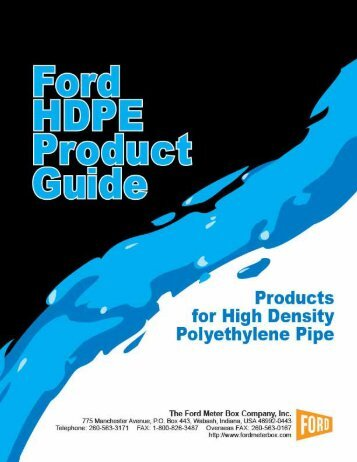 for HDPE Pipe - Ford Meter Box