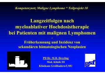 Vortrag Dreyling - Kompetenznetz Maligne Lymphome