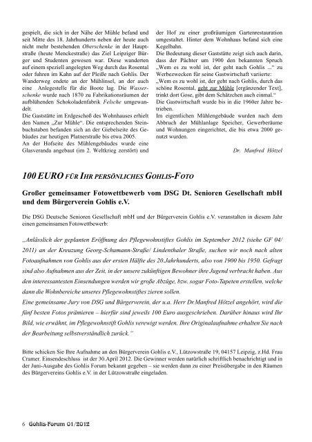 Gohlis Forum - Bürgerverein Gohlis eV