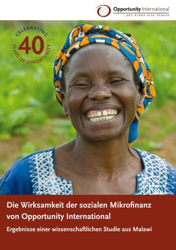 Wirksamkeit der sozialen Mikrofinanz - Opportunity International ...