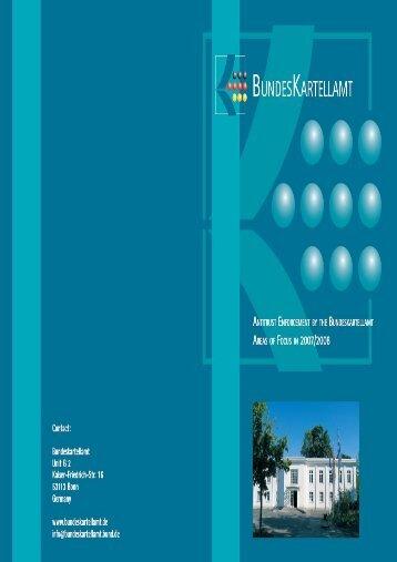 Activity Report 2007/2008 - Bundeskartellamt