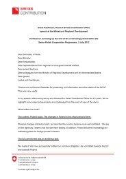 Informacja prasowa - Swiss enlargement contribution