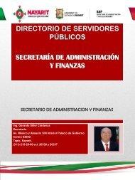 SECRETARIO DE ADMINISTRACION Y FINANZAS - Secretaría de ...