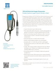 50 m YSI 626250-50 ProODO Digital Probe and Cable Assembly for Optical Dissolved Oxygen//Temperature Meter