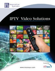 IPTV Video Solutions Product Sheets - Innovative Systems