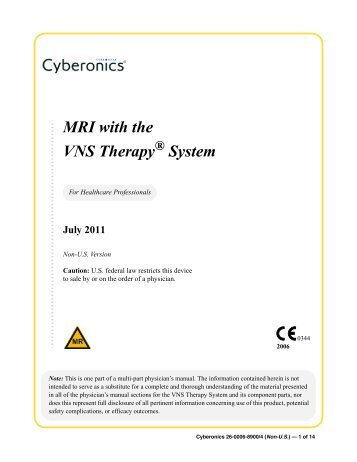 MRI with the VNS Therapy System - Fenno Medical Oy