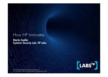 How HP Innovates - Awt