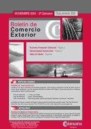 Boletín de Comercio Exterior - Cámara Zaragoza