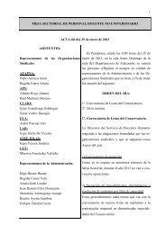 MESA SECTORIAL DE PERSONAL DOCENTE NO ... - Stee-Eilas