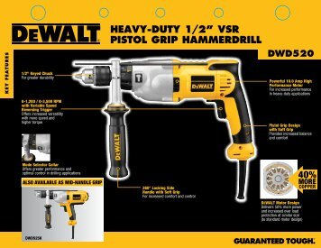 "dwd520 heavy-duty 1/2"" vsr pistol grip hammerdrill"
