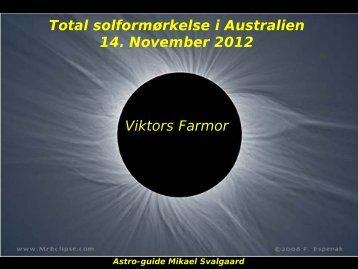 Opvarmningsforedrag (præsenteret i Australien, 10 November 2012).