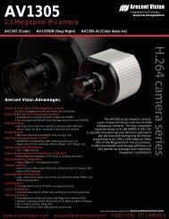 Arecont Vision AV1305DN IP cameras product datasheet