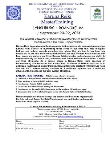 Karuna Reiki MasterTraining - Virginia Center for Reiki Training