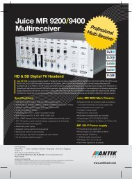 Juice MR 9200/9400 Multireceiver - Antik Technology