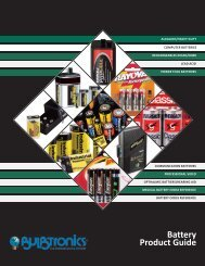 Battery Product Guide - Bulbtronics