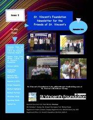 Sept 2011 Newsletter - St. Vincent's Foundation