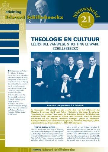 Nieuwsbrief 21 - Stichting Edward Schillebeeckx