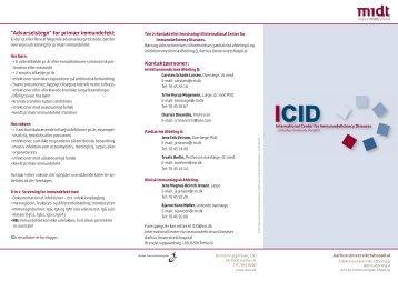folder om ICID-centret