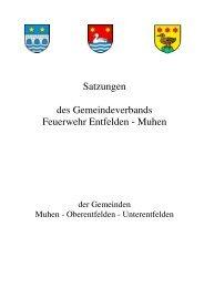 Satzungen des Gemeindeverbands Feuerwehr Entfelden - Muhen