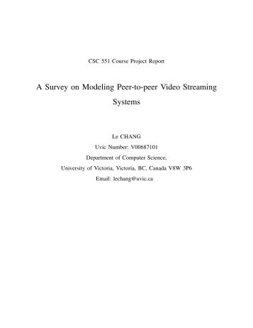 A Survey on Modeling Peer-to-peer Video Streaming Systems