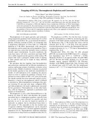 Trapping of DNA by Thermophoretic Depletion and ... - Dieter Braun