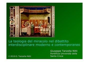 La teologia del miracolo nel dibattito interdisciplinare ... - Inters.org