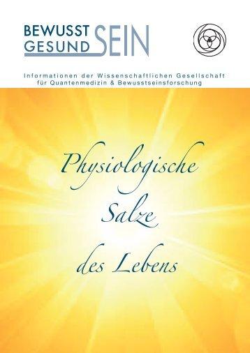 Physiologische Salze des Lebens - Wissenschaftliche Gesellschaft ...