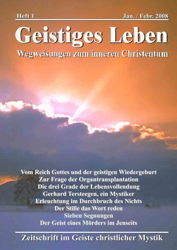 GL 1/2008 - der Lorber-Gesellschaft eV