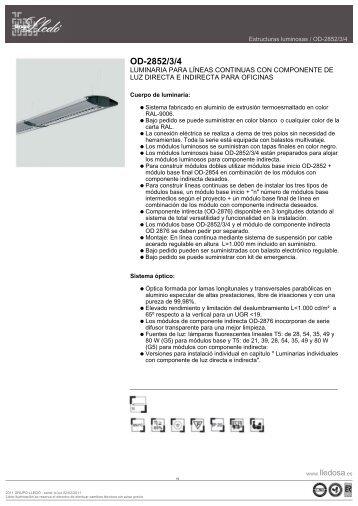 ficha técnica luminaria - Casasana