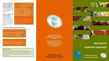 Rotulado Nutricional: Folleto - NutriLearning