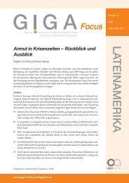 Armut in Krisenzeiten – Rückblick und Ausblick - GIGA German ...