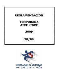 reglamentación temporada aire libre 2009 38/09 - fetacyl.es