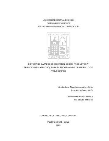 sistema de catálogos electrónicos de productos y servicios